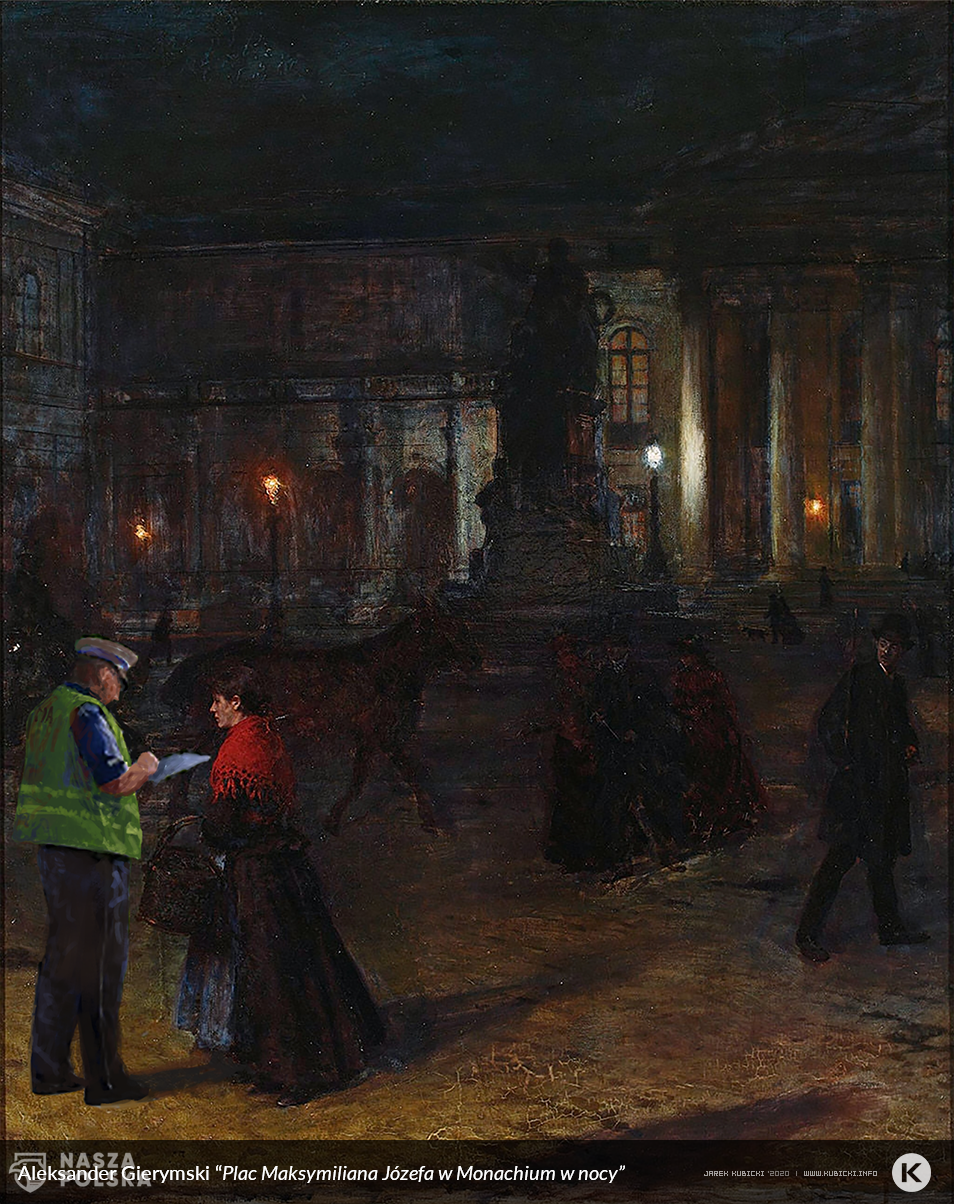 Aleksander Gierymski Plac Maksymiliana JĘzefa w Monachium w nocy