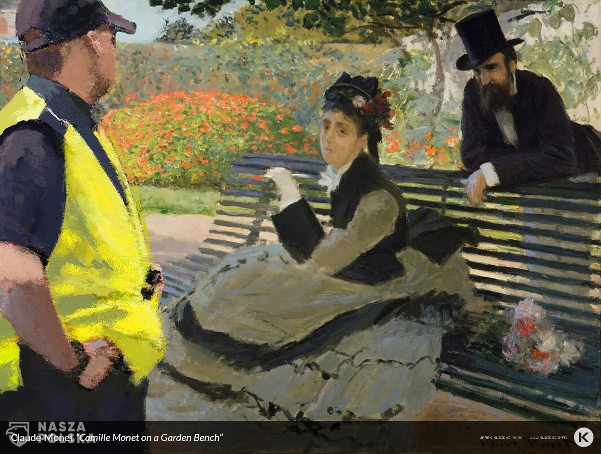 Claude monet Camille Monet (1847–1879) on a Garden Bench