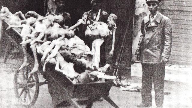 Symboliczne upamiętnienie 77. rocznicy wybuchu powstania w getcie warszawskim