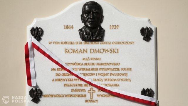 Odsłonięcie tablicy poświęconej Romanowi Dmowskiemu