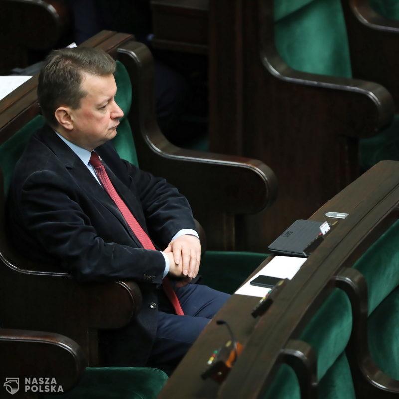 Błaszczak: Słowa Jaśkowiaka o gen. Błasiku są skandaliczne; jego zasługi powinny zostać upamiętnione