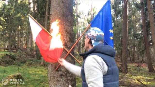 Śledztwo ws. publicznego podpalenia flagi Polski
