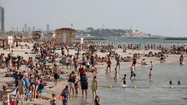 Tel Aviv – plaża, sobota 16 maja