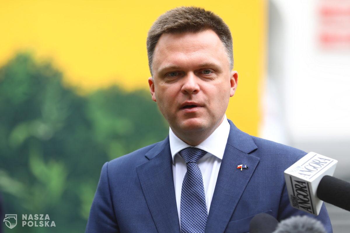 """Wpłynął wniosek do KRS o rejestrację stowarzyszenia """"Polska 2050"""" Szymona Hołowni"""
