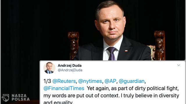 Prezydent odpowiada zachodnim mediom: Moje słowa wyrwano z kontekstu. Przestańcie rozpowszechniać fałszywe wiadomości