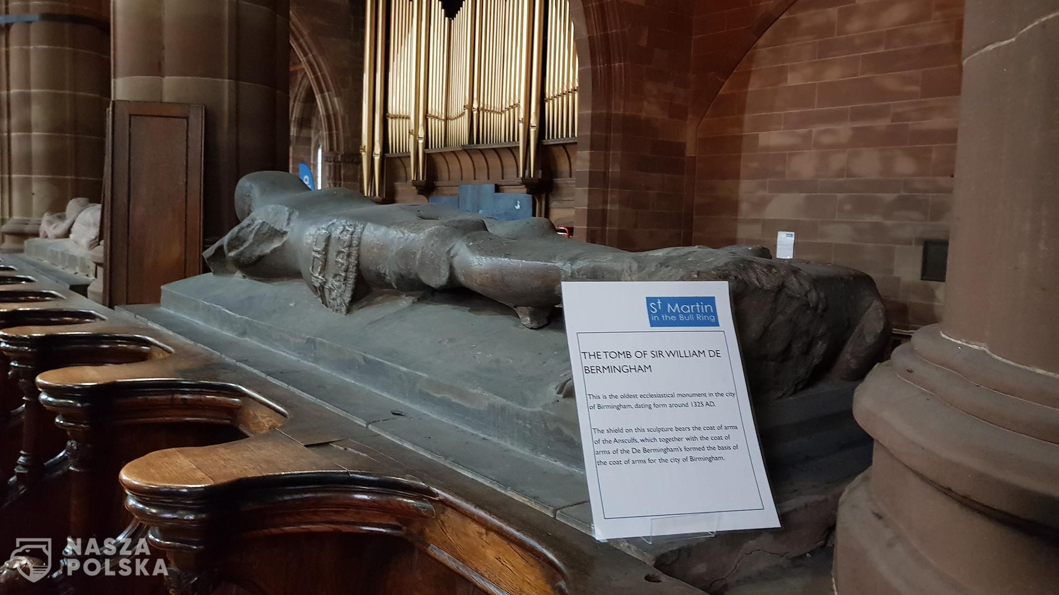 Nagrobek Williama de Birmingham w kościele św. Marcina w Birmingham.