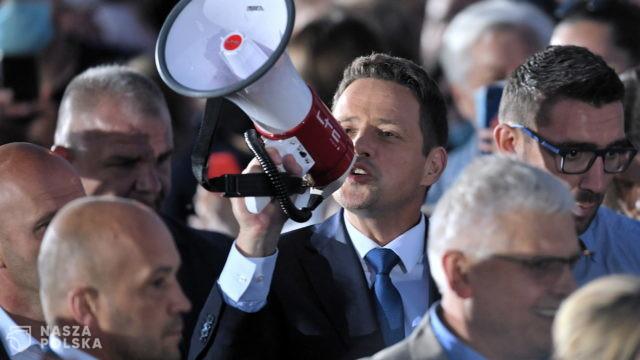 Megafon Trzaskowskiego z kampanii wyborczej na tegorocznej akcji WOŚP