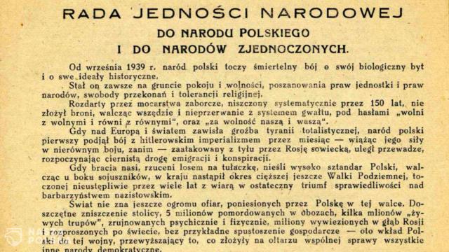 """75 lat temu ogłoszono """"Testament Polski Walczącej"""""""