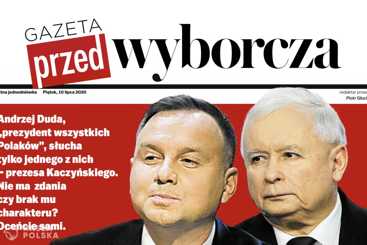 Gazeta Wyborcza wydała bezpłatną Gazetę Przed-Wyborczą w całości poświęconą Andrzejowi Dudzie