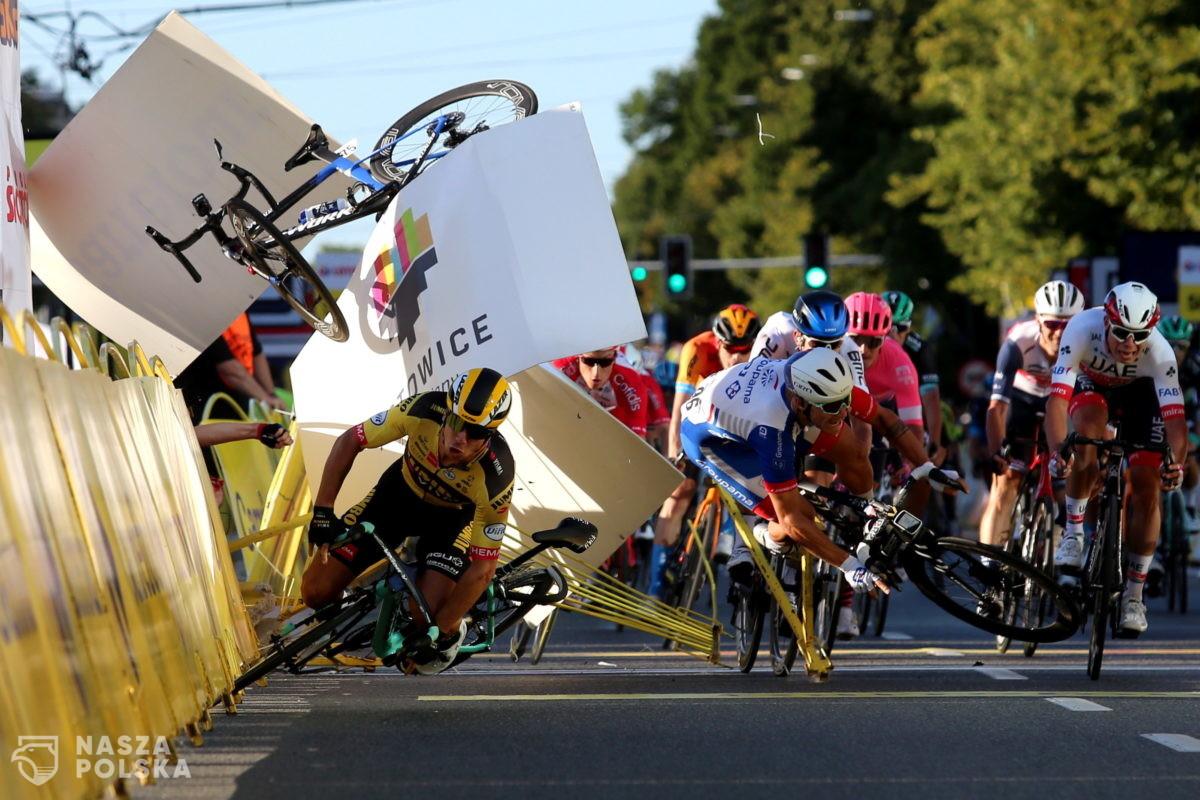 [DUŻO ZDJĘĆ] Kraksa na mecie 1. etapu wyścigu kolarskiego 77. Tour de Pologne