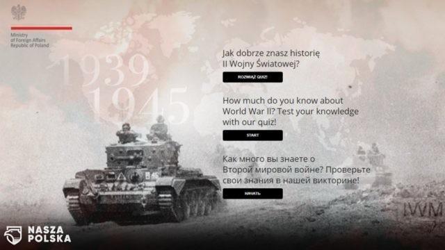 MSZ uruchomiło quiz nt. wiedzy o II wojnie światowej; jego rozwiązanie proponuje m.in. ambasadzie Rosji