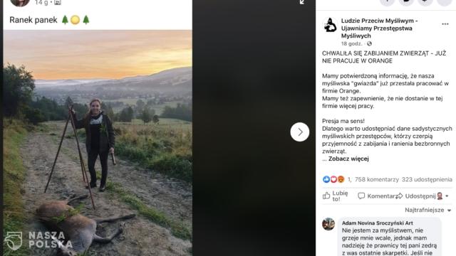 Zwolniona z Orange za zdjęcie z polowania? Marksizm kulturowy u bram
