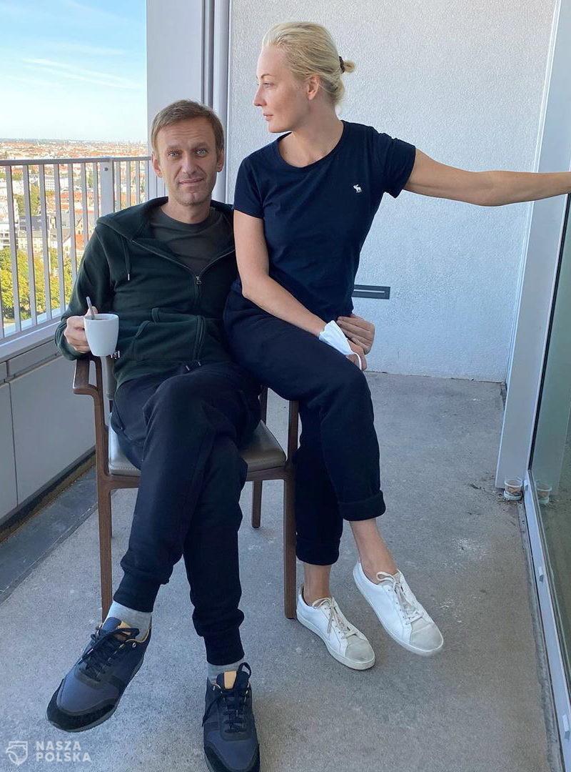 Nawalny uważa, że na jego ubraniu są ślady Nowiczoka