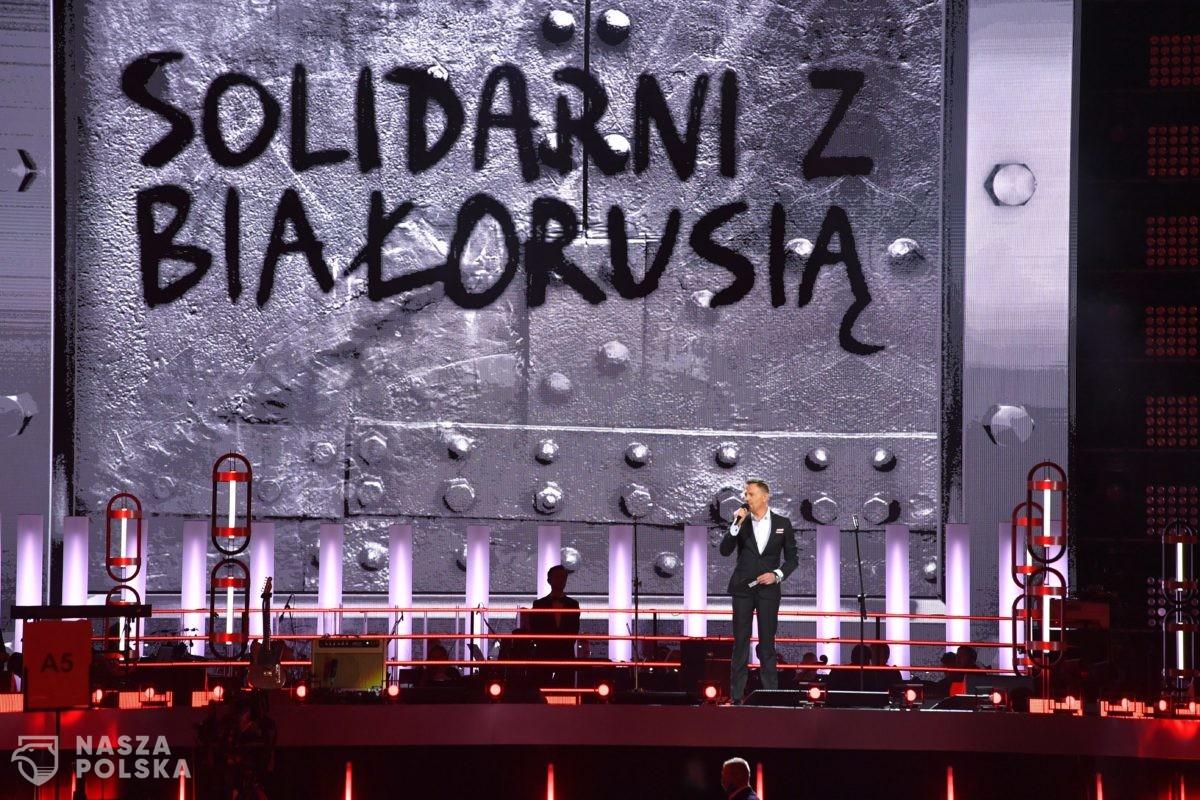 """Na PGE Narodowym trwa koncert """"Solidarni z Białorusią"""""""