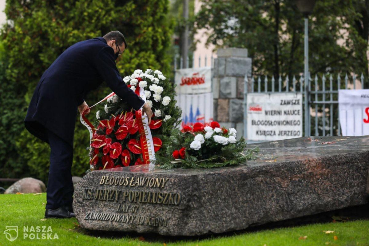 Premier: ksiądz Popiełuszko był symbolem walki o wolność będącą podstawowym prawem człowieka