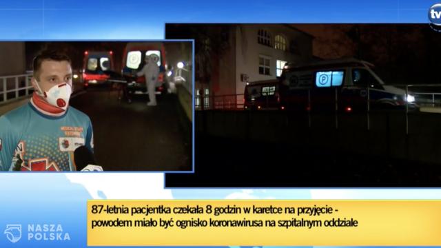 TVN: 87-latka ponad osiem godzin czekała w karetce na przyjęcie do szpitala