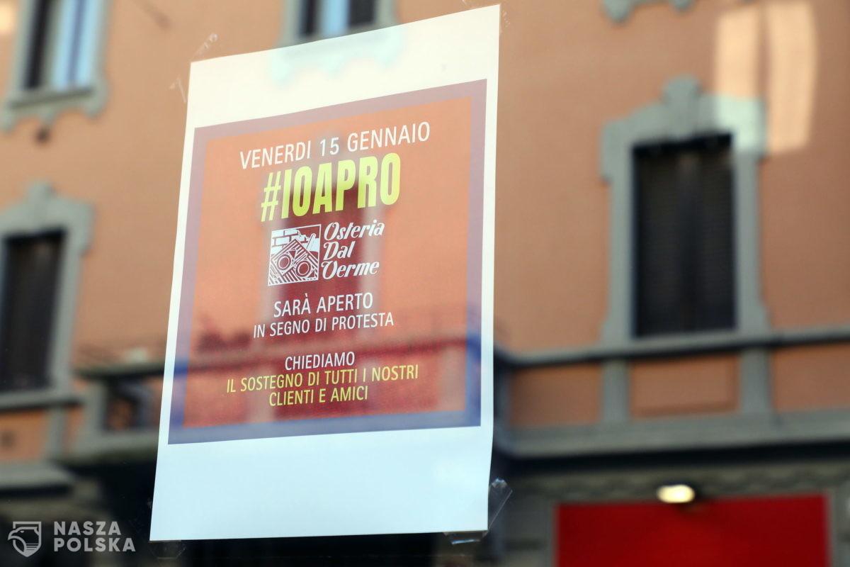 Włochy/ Otwarto 50 tys. lokali gastronomicznych wbrew rządowym przepisom