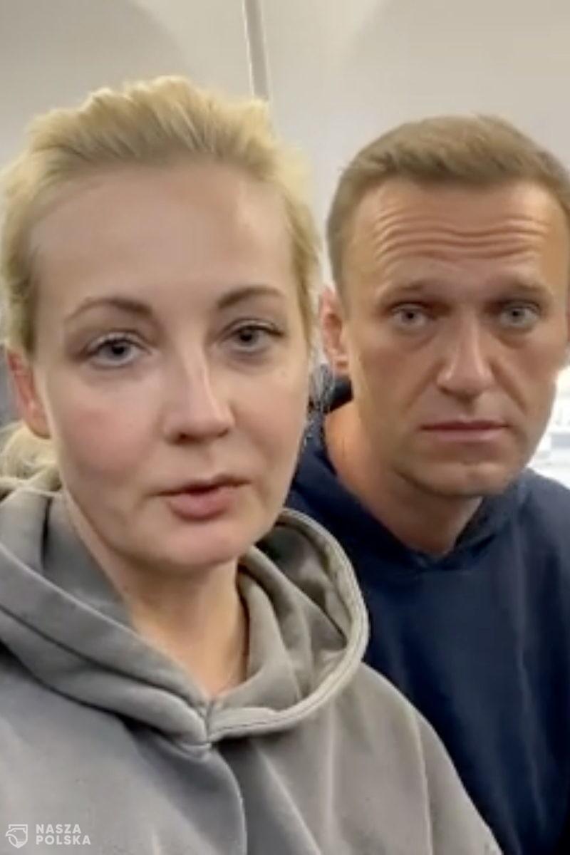 Rosja/ Nawalny zatrzymany na lotnisku po powrocie z Niemiec