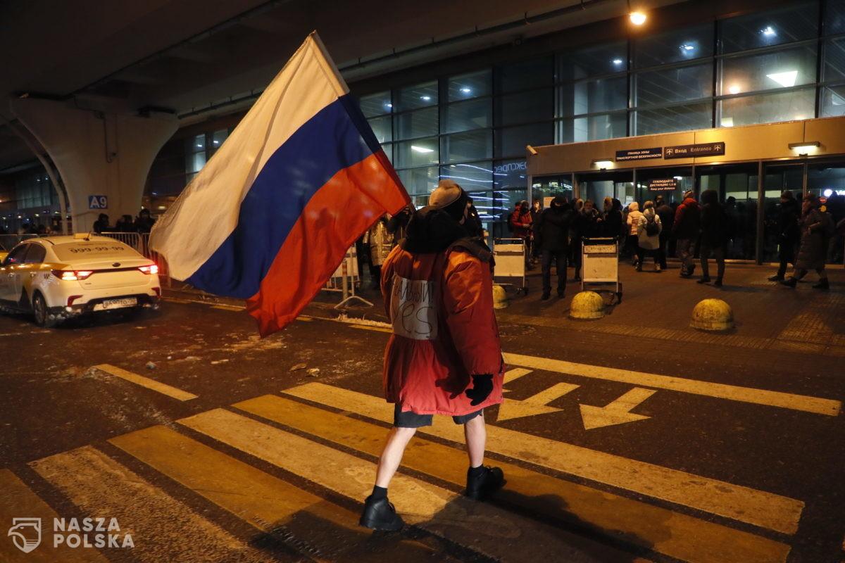 Nawalny spędził noc na komisariacie w Chimkach pod Moskwą