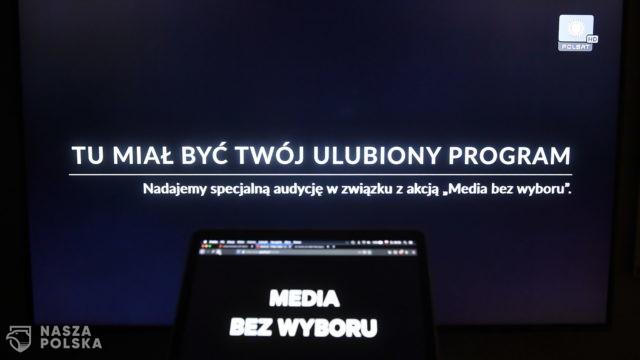 """Politycy opozycji popierają akcję """"Media bez wyboru"""""""