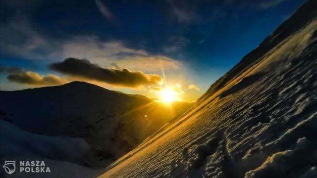 Zachód słońca widziany z Giewontu