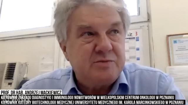 Prof. Mackiewicz: pracujemy nad szczepionką przeciw SARS-CoV2, która zarazem leczy