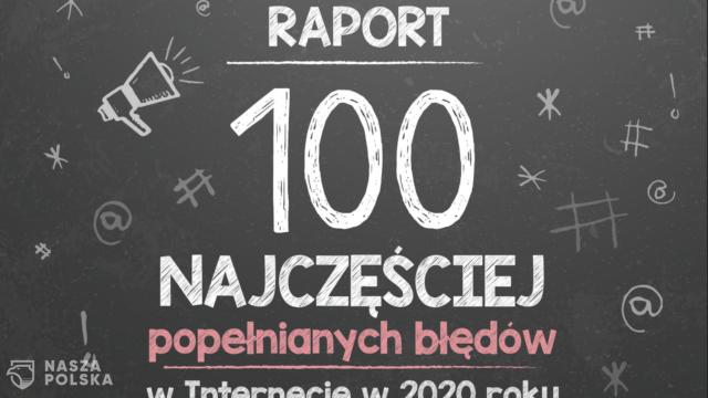 """Raport o błędach językowych w internecie: """"napewno"""" na czele listy"""