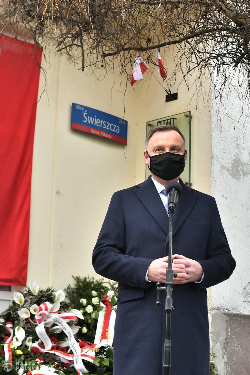 Prezydent: Żołnierze Niezłomni postanowili walczyć do końca o wolną i niepodległą Polskę