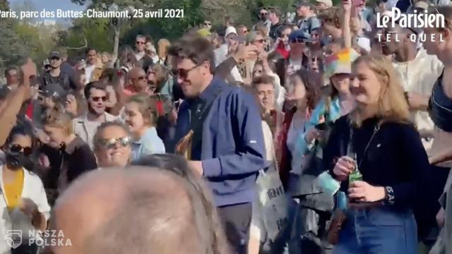 Francja/ Dyskoteka na kilkaset osób w paryskim parku mimo pandemii