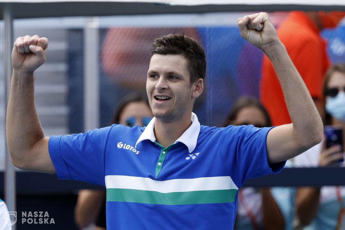 Turniej ATP w Miami – Hurkacz: wiszę trenerowi butelkę dobrego wina