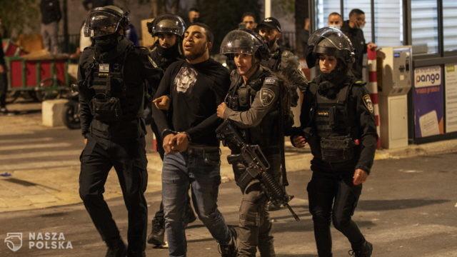 Starcia Palestyńczyków z izraelską policją w Jerozolimie