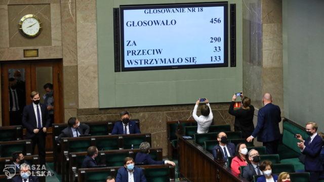 Sejm przyjął ustawę wyrażającą zgodę na ratyfikację decyzji o zwiększeniu zasobów własnych UE
