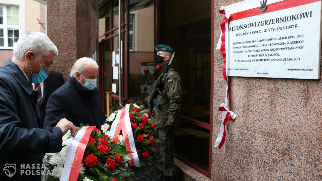Odsłonięto tablicę upamiętniającą Alfonsa Zgrzebnioka
