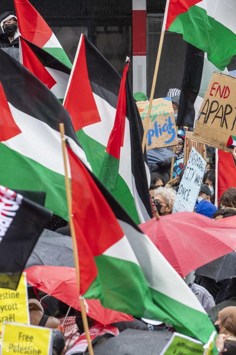 Propalestyńskie demonstracje w wielu miastach Europy