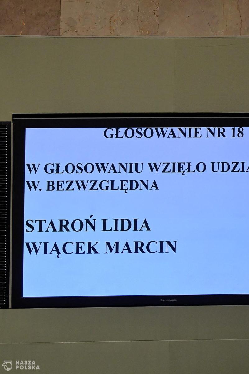 Sejm powołał senator Lidię Staroń na stanowisko Rzecznika Praw Obywatelskich
