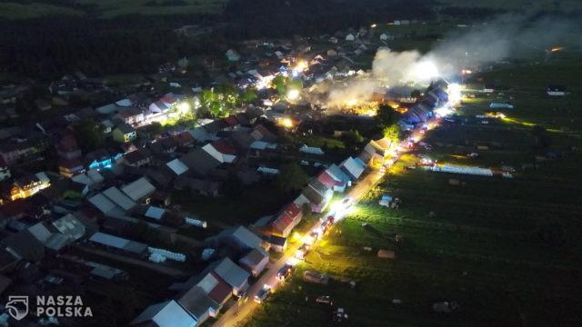 Pożar we wsi Nowa Biała ugaszony; trwa rozbiórka budynków