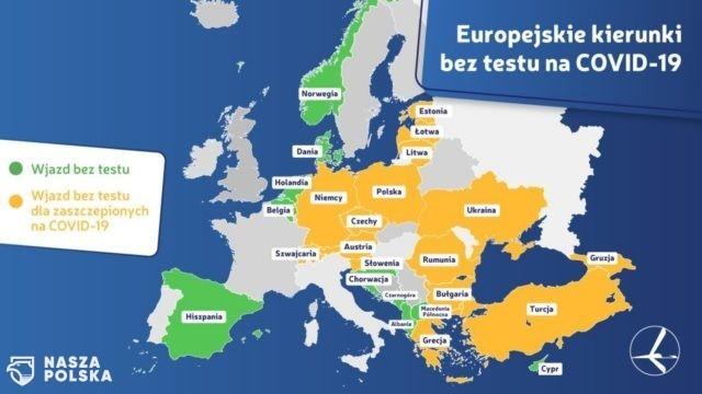 Do 9 krajów wjedziemy bez testu, kwarantanny i szczepienia