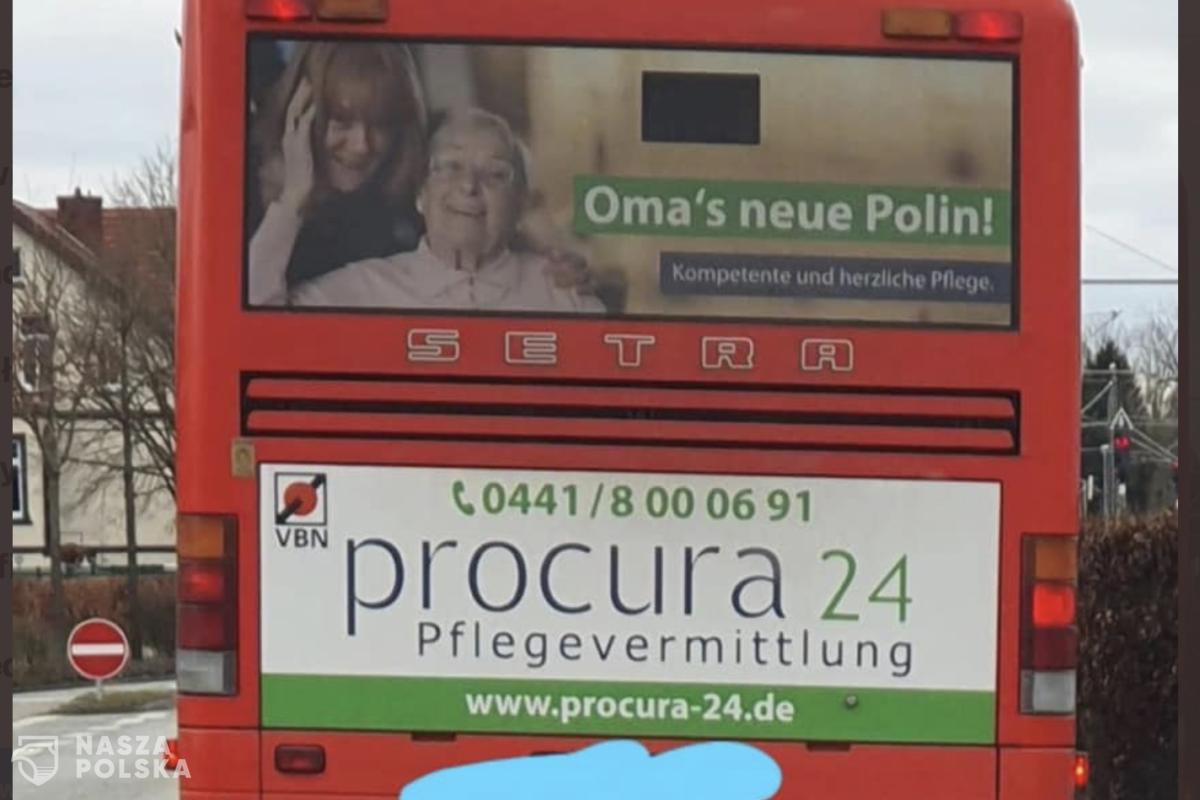 """Ambasada RP w Berlinie domaga się usunięcia reklamy """"Nowa Polka babci"""""""