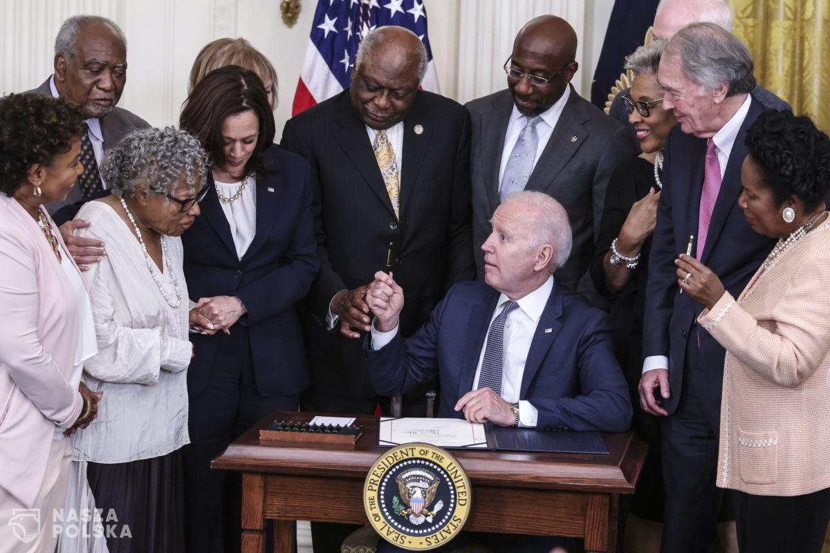 USA/ Prezydent podpisał ustawę ustanawiającą państwowe święto upamiętniające koniec niewolnictwa