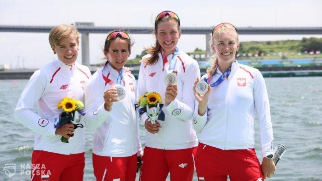 Tokio/ Wioślarstwo. Czwórka podwójna kobiet zdobyła srebrny medal
