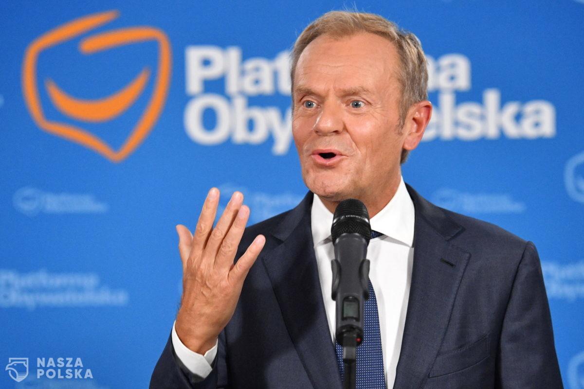 Donald Tusk deklaruje, że PO poprze propozycje rządu, ale stawia warunek