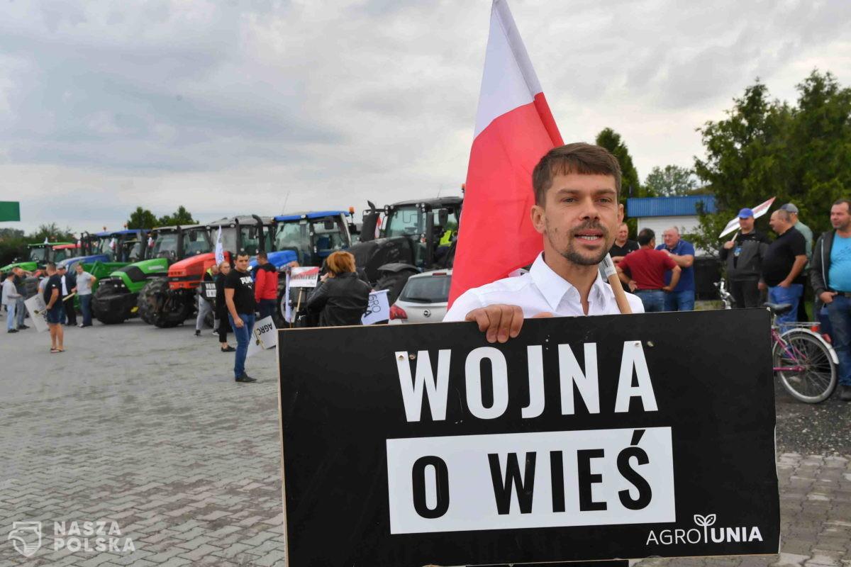 Kołodziejczak podczas blokady na dk 12: sytuacja polskiego rolnictwa jest tragiczna