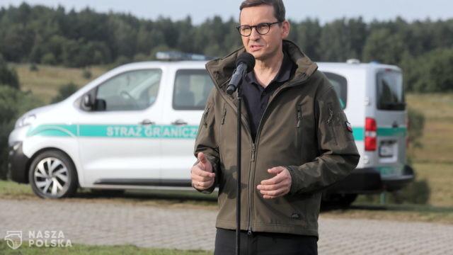 Morawiecki o sytuacji na granicy z Białorusią: to atak hybrydowy, próba destabilizacji sytuacji politycznej
