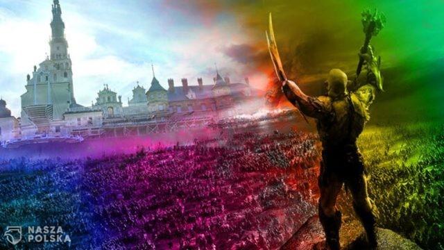 PCh24 o manifestacji LGBT: Barbarzyńcy atakują Jasną Górę!