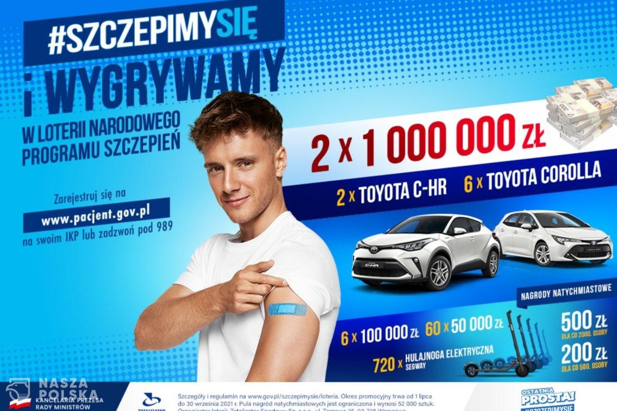 W ramach Loterii Narodowego Programu Szczepień rozlosowano dwa samochody