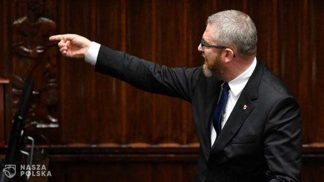 Komisja Etyki Poselskiej ukarała naganą posła Grzegorza Brauna za groźby pod adresem ministra zdrowia