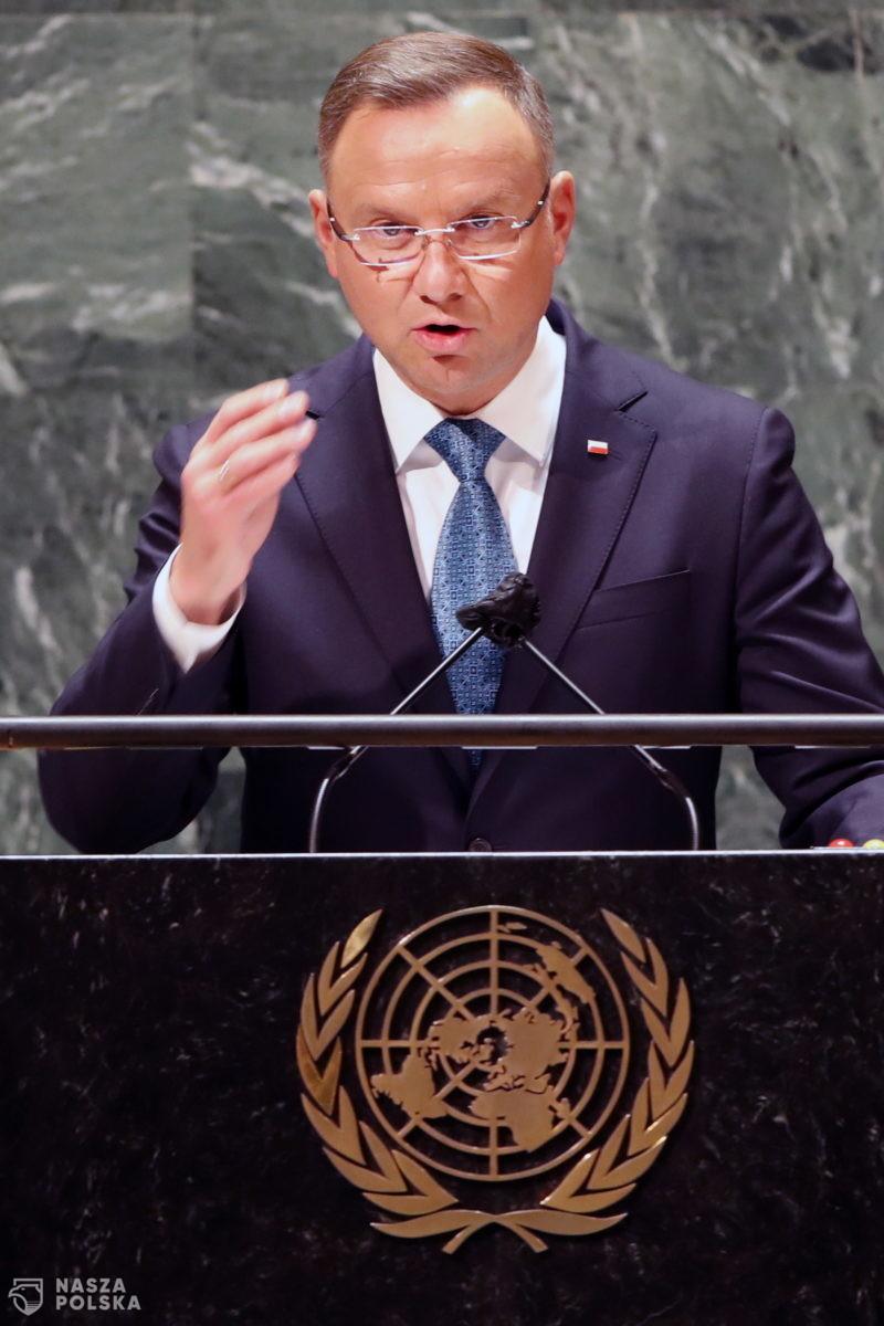 ONZ/ Prezydent Duda oskarżył Białoruś o atak hybrydowy i podał w wątpliwość solidarność globalnej Północy