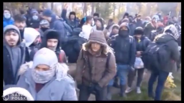 SG opublikowała film z siłowego forsowania granicy z Białorusi do Polski