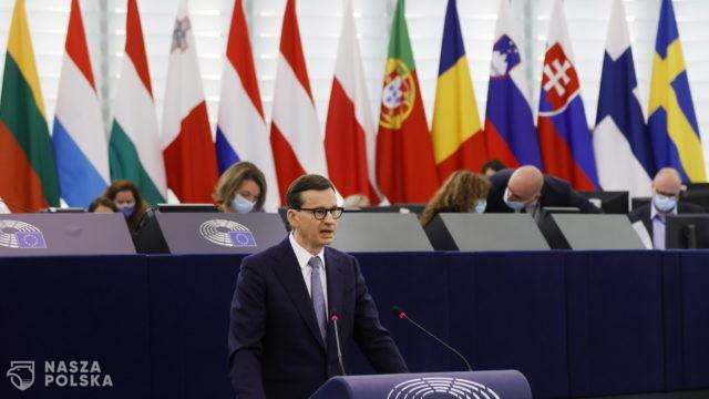 Europosłowie PO krytykują wystąpienie premiera Morawieckiego w PE